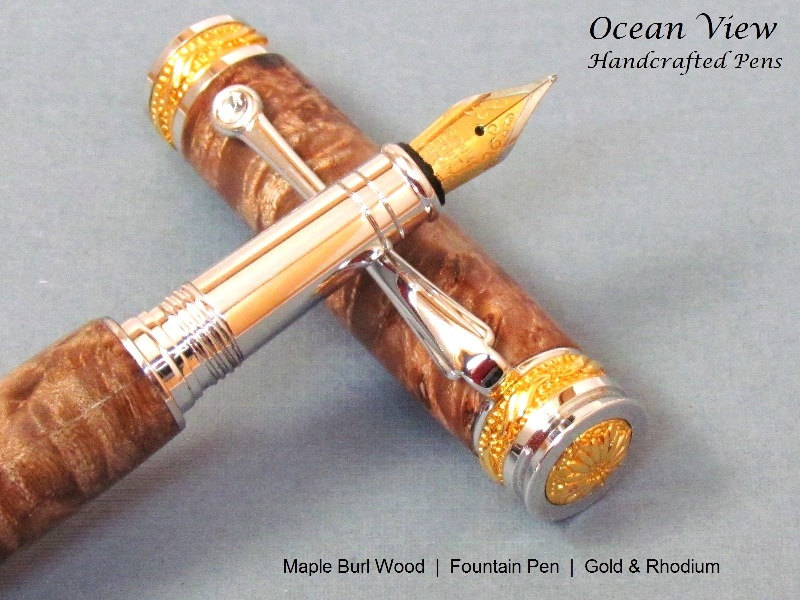 Handcrafted wood pen with double Celtic knot by Hope & Grace Pens